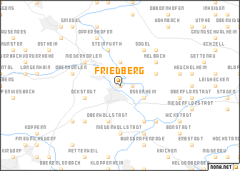 map of Friedberg