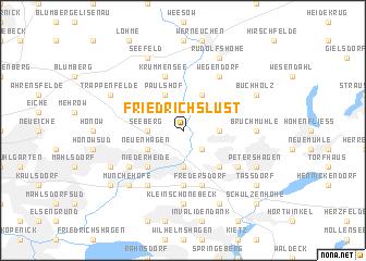 map of Friedrichslust