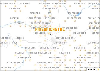 map of Friedrichstal