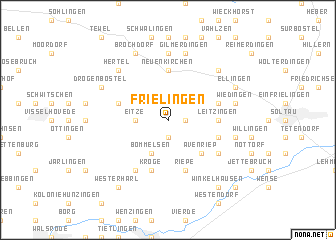 map of Frielingen