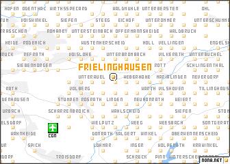 map of Frielinghausen