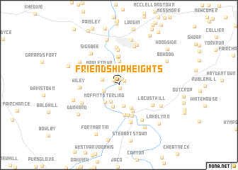 map of Friendship Heights