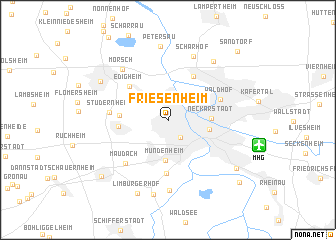 map of Friesenheim
