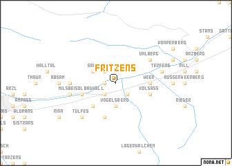 map of Fritzens