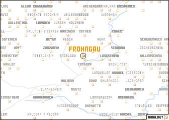 map of Frohngau