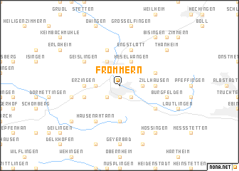 map of Frommern