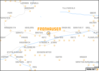 map of Fronhausen