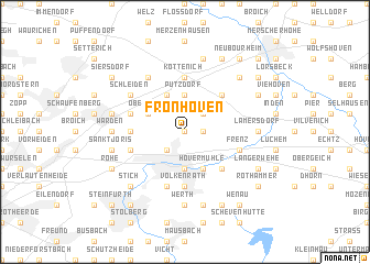 map of Fronhoven