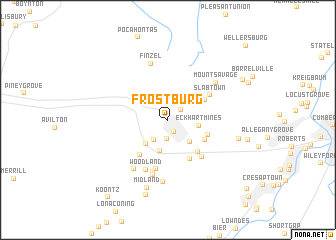 map of Frostburg