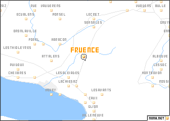 map of Fruence