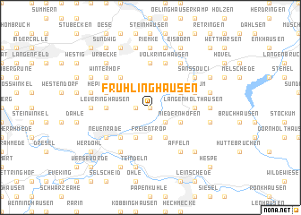 map of Frühlinghausen