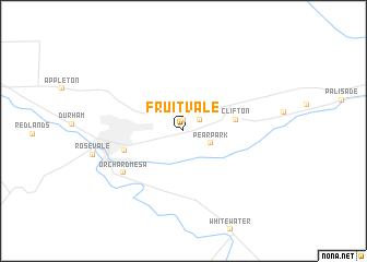 map of Fruitvale