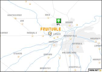 map of Fruitvale