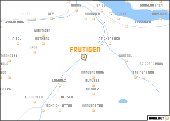 map of Frutigen