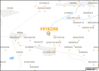 map of Fryazino