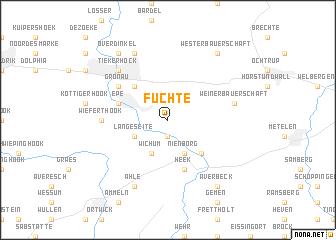 map of Füchte