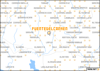 map of Fuente del Carmen