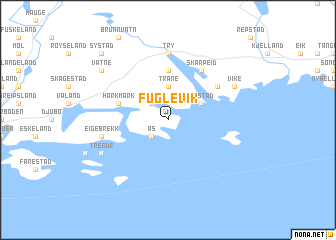 map of Fuglevik