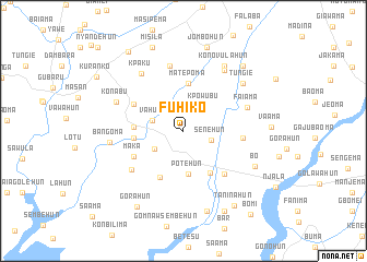 map of Fuhiko
