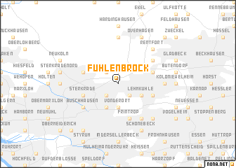 map of Fuhlenbrock