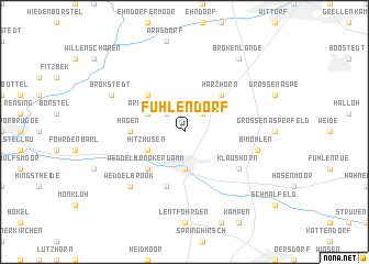 map of Fuhlendorf