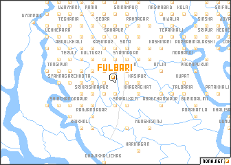 map of Fulbāri