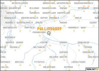 map of Füllinsdorf