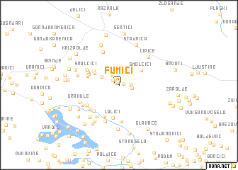 map of Fumići