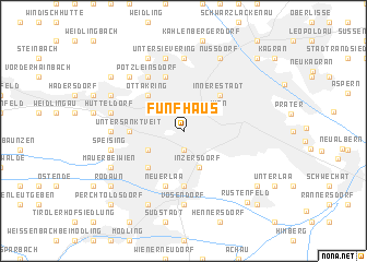 map of Fünfhaus