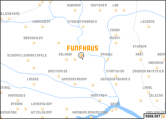 map of Fünfhaus