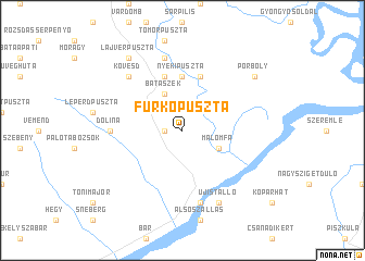 map of Furkópuszta