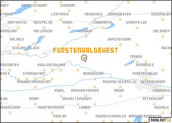 map of Fürstenwalde-West