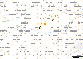 map of Fürth