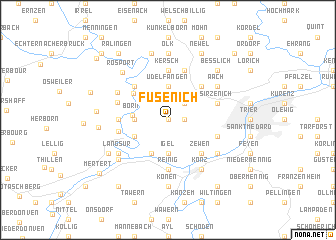 map of Fusenich