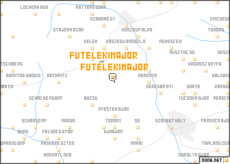map of Fůtelekimajor