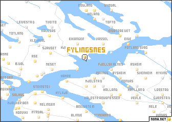 map of Fylingsnes