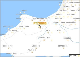 map of Fyzabad