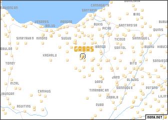 map of Gabas