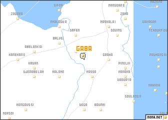map of Gaba