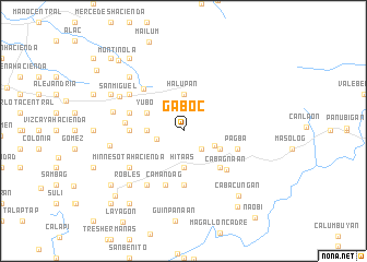 map of Gaboc