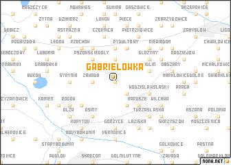 map of Gabrielówka