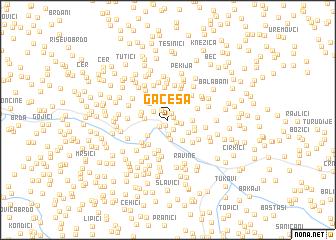 map of Gaćeša