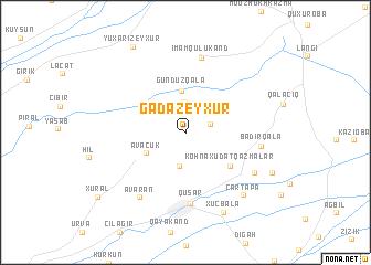 map of Gǝdǝzeyxur