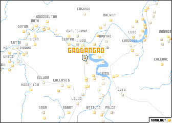 map of Gaddangao