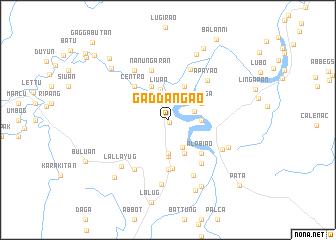 map of Gaddangao