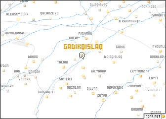 map of Gǝdikqışlaq