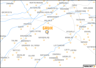 map of Gǝdik
