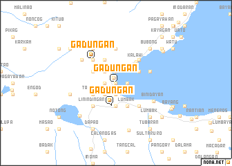 map of Gadungan