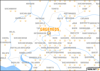 map of Gã Gémeos