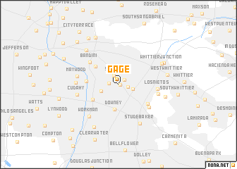 map of Gage